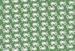 04041 Baumwolle Westfalenstoff Trecker grün