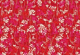 04021 Baumwolle Westfalenstoff Blumen rot