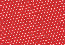 04023 Baumwolle Westfalenstoff Herzen rot
