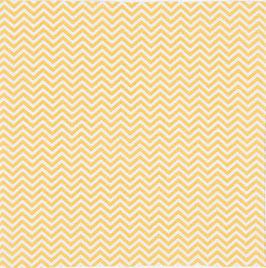 06003 Baumwolle Zickzack senfgelb/weiß