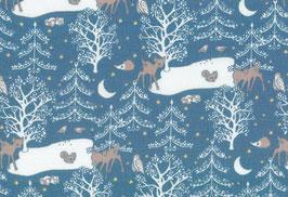 04036 Baumwolle Westfalenstoff Nachtwald blau