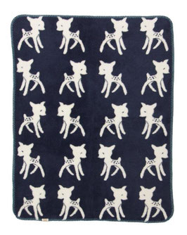 "Bambi Blanket  Navy - Nature ""The Limited Edition"" 75 x 100cm"