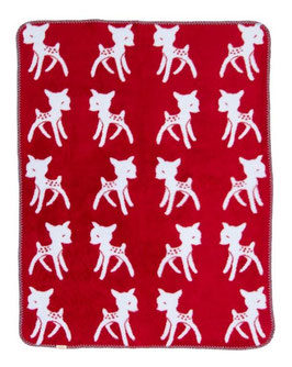 "Bambi Blanket  Red - Light Blue ""The Limited Edition"" 75 x 100cm"