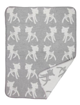 Bambi Blanket Small Light Grey 75 x 100cm