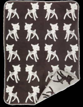 Bambi Blanket Espresso - Beige 75 x 100cm