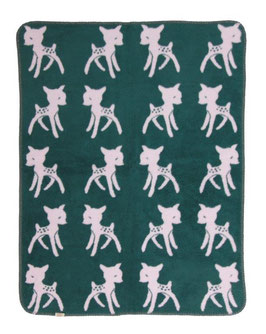 "Bambi Blanket  Pink - Petrol ""The Limited Edition"" 75 x 100cm"