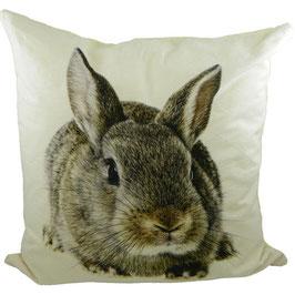 Tiermotivkissen halbes Kissen - Kaninchen - 50 x 10 x 35 cm