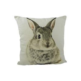 Tiermotivkissen - Kleines Kissen doppelt Kaninchen - 33 x 10 x 33 cm