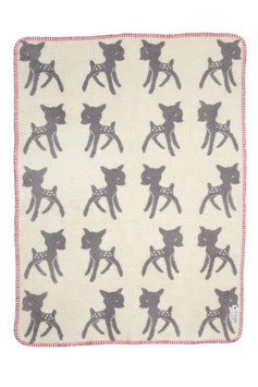 Bambi Blanket Small Grey-Pink 75 x 100cm