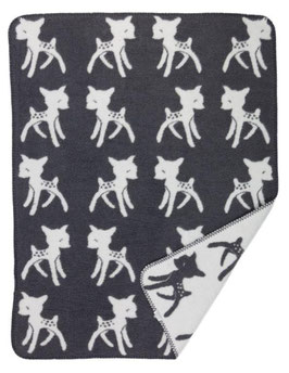 Bambi Blanket Small Dark Grey 75 x 100cm