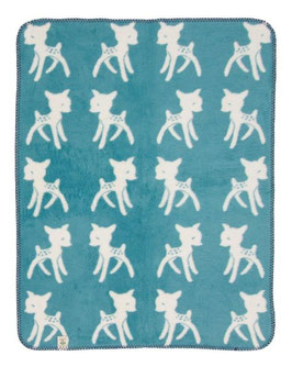 "Bambi Blanket  Aqua Blue ""The Limited Edition"" 75 x 100cm"