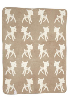 Bambi Blanket Small Beige 75 x 100cm