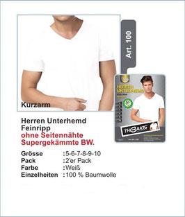 Herren Unterhemd   Kurzarm   weiss   2er-Pack
