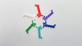 Gekleurde naamkettingen