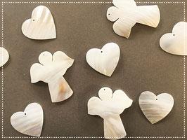 Herz/Engel aus Perlmutter