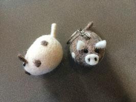 Schlüssel- Anhänger Schwein Filz