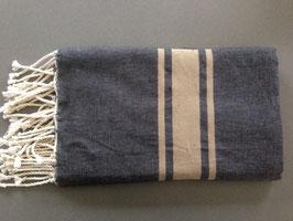 Fouta/ Hammam- Tuch schwarz-braun
