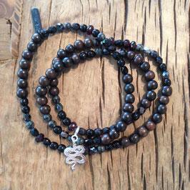 3er Bracelet braun Schlange