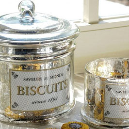 Biscuits-Dose Bauern - Silber