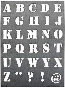 Zinkschild Buchstaben gross