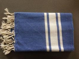 Fouta/ Hammam- Tuch blau mit Lurexfäden
