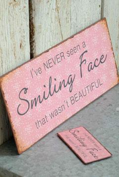 """Schild """"smiling face"""""""