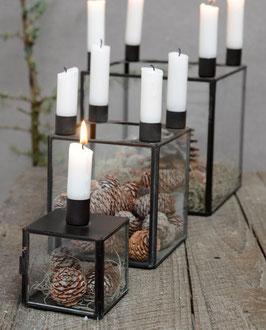 Glasbox für 1 oder 4 Kerzen