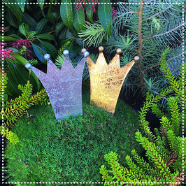 Krone zum einstecken gold & silber