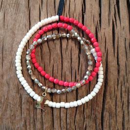 3er Bracelet rot-korall Bär