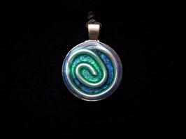 Amulett Blaue Spirale
