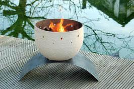 Feuerschale Vesuv – weiß