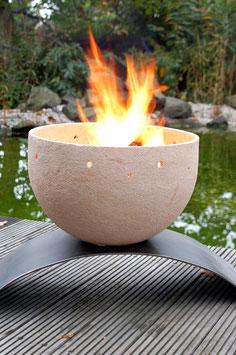 Feuerschale Vesuv groß – weiß