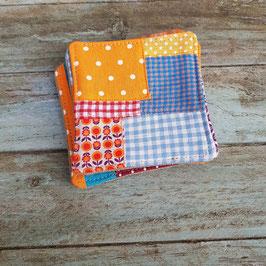 Dessous de verre en patchwork de cotons imprimés