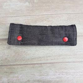 Coussin pour ceinture de sécurité jean noir