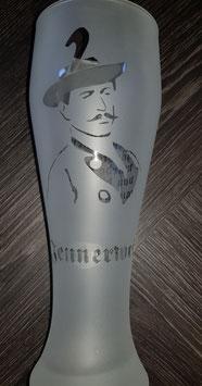 """Weißbierglas (iced) """"Jennerwein""""0,5 l"""