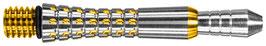 1 Set (=3 Stück) Pixel Grip Titanium gold Shaft, kurz