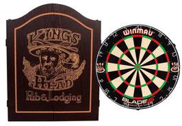 Cabinet Kings Head schwarz inkl. Winmau Blade 5 Board