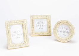 Mini cadre perles de rocaille - 3 modèles assortis