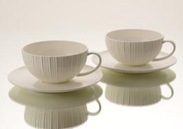 Coffret de 2 tasses à thé avec sous-tasses Jeanne