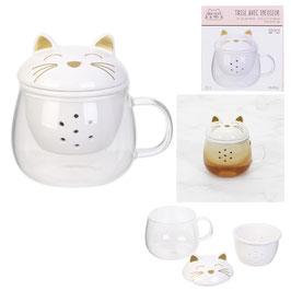 """Mug avec infuseur """"Mon chat et moi"""""""