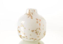 Vase taïga blanc et or