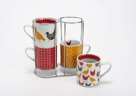 COFFRET RACK 4 TASSES JOSIE