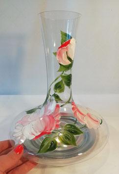 """Carafe à décanter Pivoines """"Roses, base or"""""""