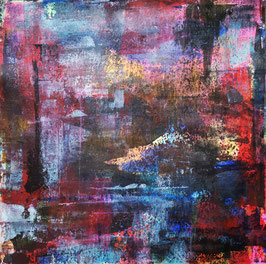 Red and Blue 30x30 Acryl on Paper