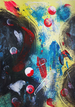 Universe Din A5 Acryl on Paper