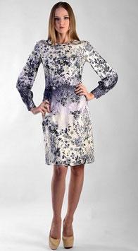 Kleid aus angenehmer Viskose (kk-7402) grau beige