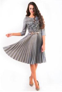Kleid mit Pliseerock (kk-7339)