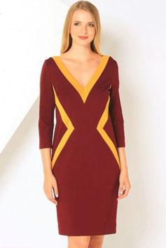 Kleid mit V Ausschnitt (kk-7336)