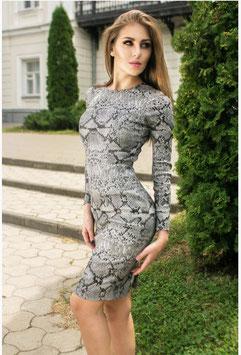 Strech Kleid Schlangenprint (kk-7348)