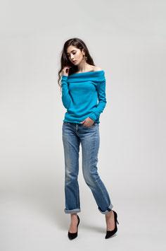 Nahtloser Pullover aus Wolle und Seide